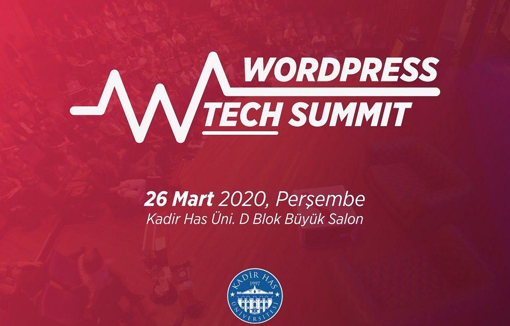 WordPress Teknoloji Zirvesi 26 Mart Tarihinde Kadir Has Üniversitesinde Gerçekleşecek.