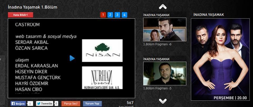 İnadına yaşamak dizisi resmi web sitesi- KanalD-2013