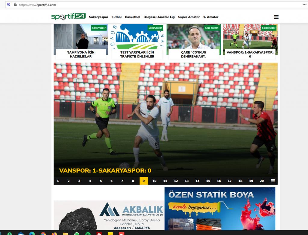 Sakarya'nın Güncel Spor Haberleri Portalı