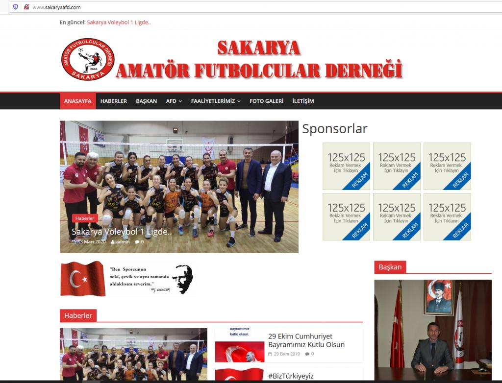 Sakarya Amatör Futbolcular Dernegi Resmi WebSitesi