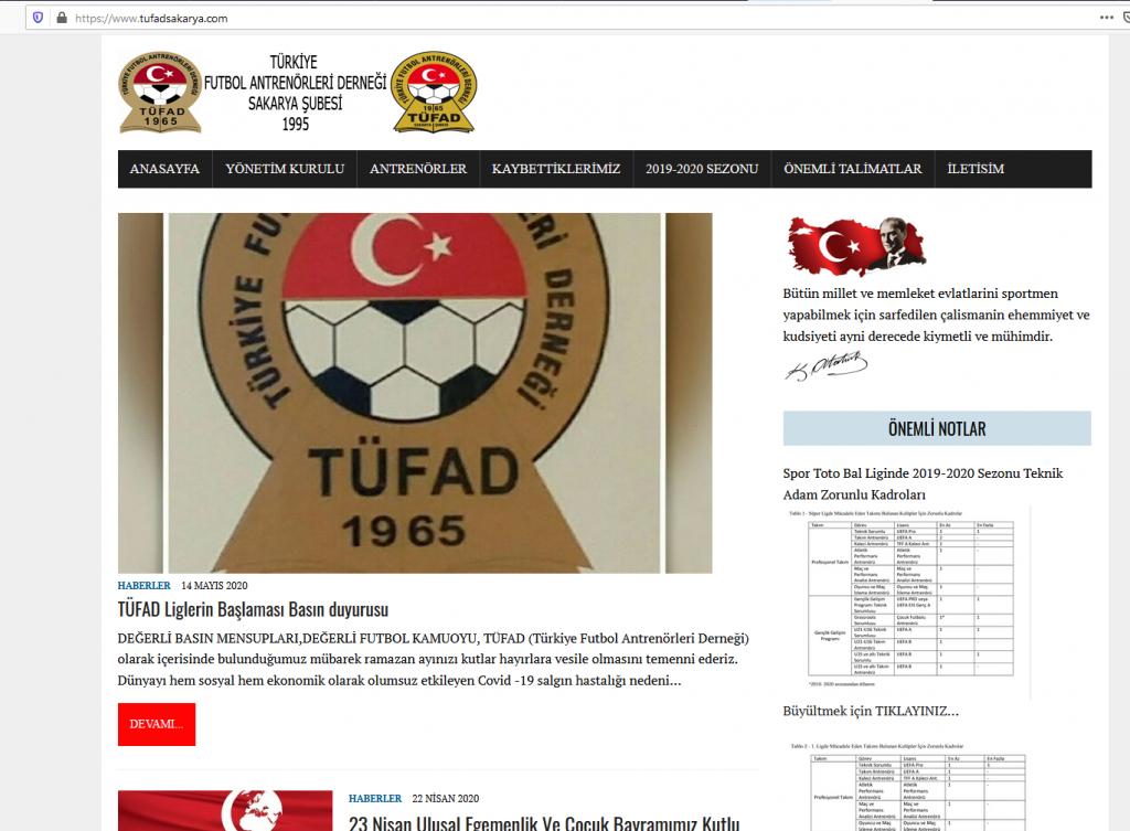 Türkiye Futbol Antrenörleri Derneği Sakarya Şubesi